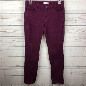 LOFT | Berry Curvy Straight Corduroy Pants